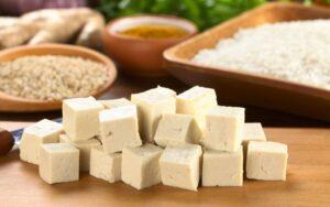 hard block tofu cubes